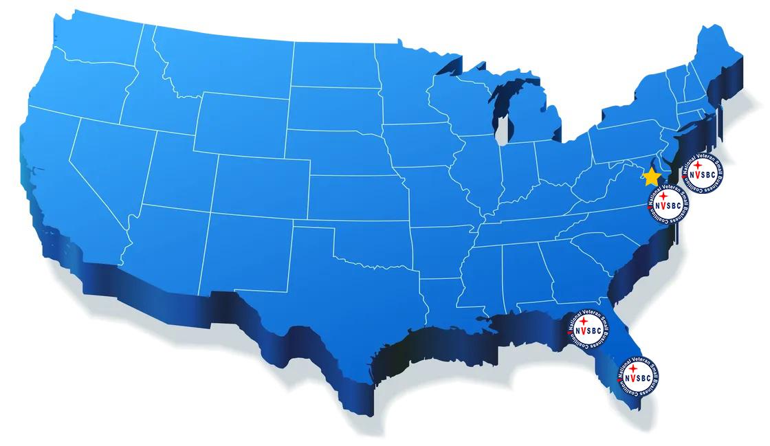 US Map w/ NVSBC locations